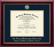 The George Washington University Diploma Frame - Masterpiece Medallion Diploma Frame in Gallery