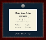 Dalton State College Diploma Frame - Silver Engraved Medallion Diploma Frame in Sutton