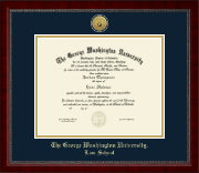 The George Washington University Diploma Frame - Gold Engraved Medallion Diploma Frame in Sutton
