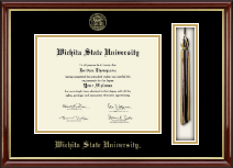 Wichita State University Diploma Frame - Tassel Edition Diploma Frame in Southport Gold