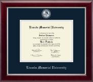 Lincoln Memorial University Diploma Frame - Masterpiece Medallion Diploma Frame in Gallery Silver
