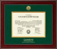 Dartmouth College Diploma Frame - Presidential Gold Engraved Diploma Frame in Jefferson