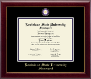 Louisiana State University at Shreveport Diploma Frame - Masterpiece Medallion Diploma Frame in Gallery