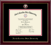 North Carolina State University Diploma Frame - Masterpiece Medallion Diploma Frame in Gallery