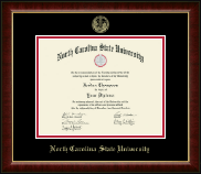 North Carolina State University Diploma Frame - Gold Embossed Diploma Frame in Murano