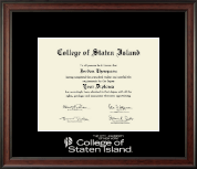 College of Staten Island Diploma Frame - Silver Embossed Diploma Frame in Studio