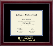 College of Staten Island Diploma Frame - Gold Embossed Diploma Frame in Gallery