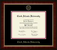 Clark Atlanta University Diploma Frame - Gold Embossed Diploma Frame in Murano