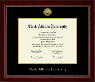 Clark Atlanta University Diploma Frame - Gold Engraved Medallion Diploma Frame in Sutton