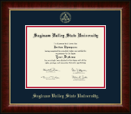 Saginaw Valley State University Diploma Frame - Gold Embossed Diploma Frame in Murano