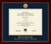 Hofstra University Diploma Frame - Gold Engraved Medallion Diploma Frame in Sutton