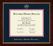 University of Houston Downtown Diploma Frame - Gold Embossed Diploma Frame in Murano