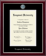 Longwood University Diploma Frame - Masterpiece Medallion Diploma Frame in Gallery Silver