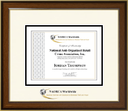National Anti-Organized Retail Crime Association, Inc. Certificate Frame - Dimensions Certificate Frame in Westwood