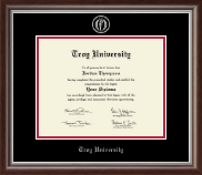Troy University Diploma Frame - Silver Embossed Diploma Frame in Devonshire