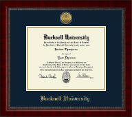 Bucknell University Diploma Frame - Gold Engraved Medallion Diploma Frame in Sutton