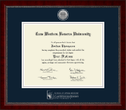 Case Western Reserve University Diploma Frame - Silver Engraved Medallion Diploma Frame in Sutton