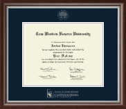 Case Western Reserve University Diploma Frame - Silver Embossed Diploma Frame in Devonshire