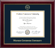 Western Governors University Diploma Frame - Gold Embossed Diploma Frame in Gallery