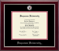 Duquesne University Diploma Frame - Masterpiece Medallion Diploma Frame in Gallery Silver