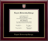 Loyola University Chicago Diploma Frame - Masterpiece Medallion Diploma Frame in Gallery