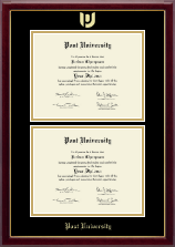 Post University Diploma Frame - Double Diploma Frame in Gallery