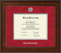 Barry University Diploma Frame - Presidential Silver Engrwaved Diploma Frame in Madison