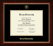 Barry University Diploma Frame - Gold Embossed Diploma Frame in Murano