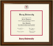 Barry University Diploma Frame - Dimensions Diploma Frame in Westwood