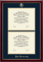 Yale University Diploma Frame - Masterpiece Medallion Double Diploma Frame in Gallery
