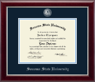 Sonoma State University Diploma Frame - Masterpiece Medallion Diploma Frame in Gallery Silver