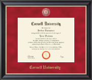 Cornell University Diploma Frame - Regal Edition Diploma Frame in Noir