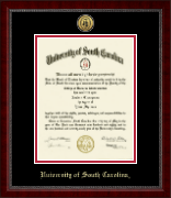 University of South Carolina Diploma Frame - Gold Engraved Medallion Diploma Frame in Sutton