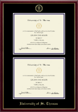 University of St. Thomas Diploma Frame - Double Diploma Frame in Galleria