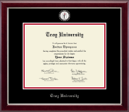 Troy University Diploma Frame - Masterpiece Medallion Diploma Frame in Gallery Silver