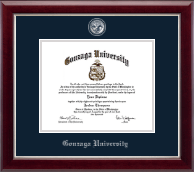 Gonzaga University Diploma Frame - Masterpiece Medallion Diploma Frame in Gallery Silver
