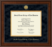 South Texas College of Law Houston Diploma Frame - Presidential Gold Engraved Diploma Frame in Madison