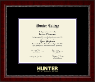Hunter College Diploma Frame - Gold Embossed Diploma Frame in Sutton