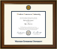 Western Governors University Diploma Frame - Dimensions Diploma Frame in Westwood