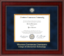 Western Governors University Diploma Frame - Presidential Masterpiece Diploma Frame in Jefferson