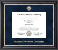 Western Governors University Diploma Frame - Regal Edition Diploma Frame in Noir