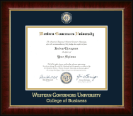 Western Governors University Diploma Frame - Masterpiece Medallion Diploma Frame in Murano