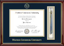 Western Governors University Diploma Frame - Tassel Edition Diploma Frame in Southport Gold