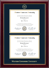 Western Governors University Diploma Frame - Double Diploma Frame in Gallery