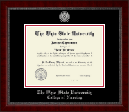 The Ohio State University Diploma Frame - Silver Engraved Medallion Diploma Frame in Sutton