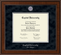 Capital University Law School Diploma Frame - Presidential Masterpiece Diploma Frame in Madison
