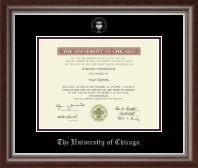 University of Chicago Diploma Frame - Silver Embossed Diploma Frame in Devonshire