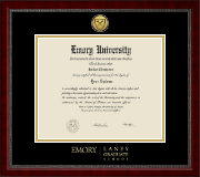 Emory University  Diploma Frame - Gold Engraved Medallion Diploma Frame in Sutton