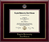 Loyola University New Orleans Diploma Frame - Masterpiece Medallion Diploma Frame in Gallery