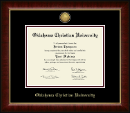 Oklahoma Christian University Diploma Frame - Gold Engraved Medallion Diploma Frame in Murano